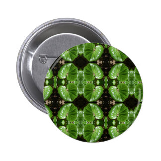 multi green leaf pinback buttons