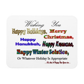 Multi Holiday greeting Rectangular Magnets