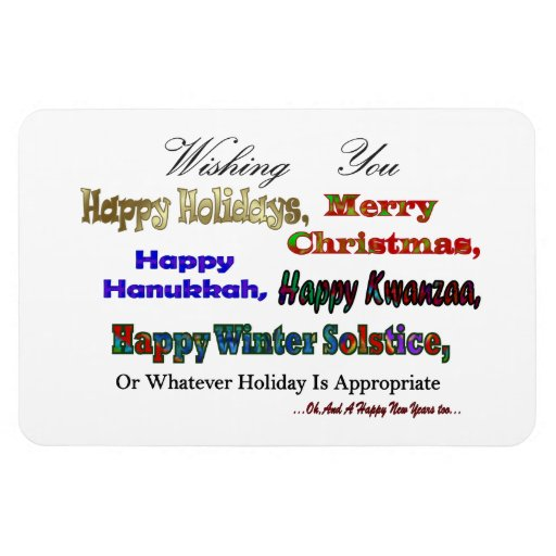 Multi Holiday greeting Magnets