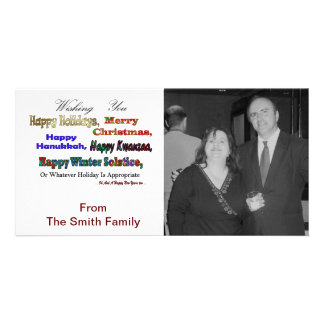 Multi holiday greetings photo greeting card