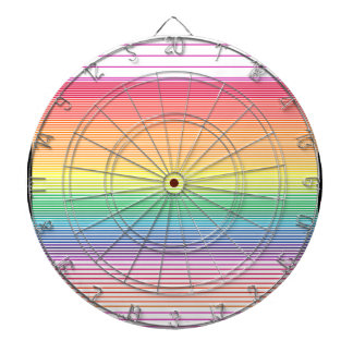 multi horizontal stripe dart board