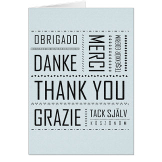 Multi-Language Thank You Card