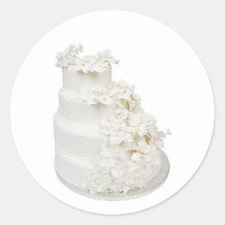 Multi Layer Wedding Cake Round Stickers