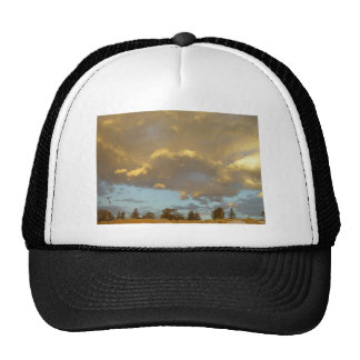 Multi-Layered Clouds Lit Up By Sunset On Mullalloo Trucker Hat