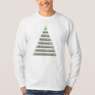 Multi-lingual Christmas Greeting Christmas Tree T-Shirt