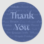 Multi-Lingual Thank You Sticker