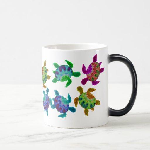 Multi Painted Turtles Mugs