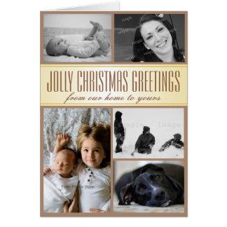 Multi-Photo Custom Family Christmas Card