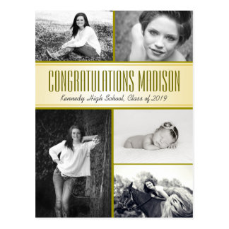 Multi-Photo Daughters Graduation Open House Postcard