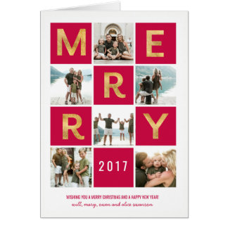 Multi Photo Holiday Greeting Card