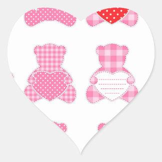 multi pink teddybear pattern cute girly kids baby stickers