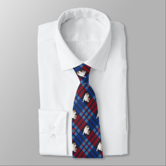 Multi Plaid Bulldog Tie
