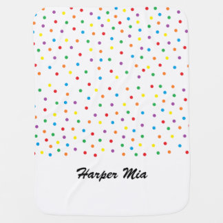 Multi Polka Dotted Personalized Baby Blanket