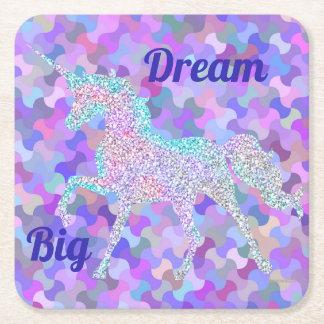 Multi-Prism Colored Unicorn Coaster