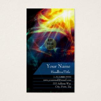 Multi Psychedelic Burst Fractals Business Card