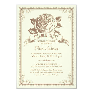 Multi-purpose Vintage Garden Party Invitations