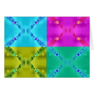 Multi Ripples Fractals Greeting Card