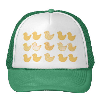 Multi rubber duck pattern cute girly fun child hats