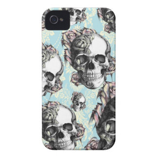 Multi skull and roses Don t be Blue iPhone 4 Case-Mate Case