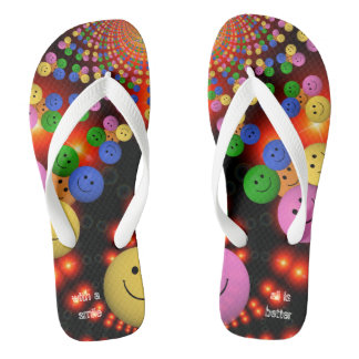 Multi smiley Spalls multicolor Thongs