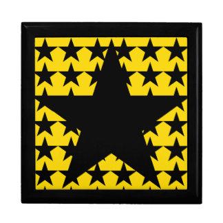 multi star pattern keepsake box