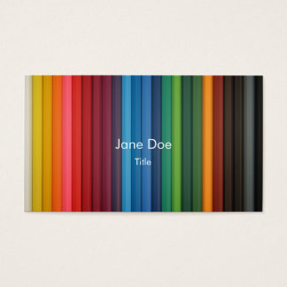 multi-stripe color business card