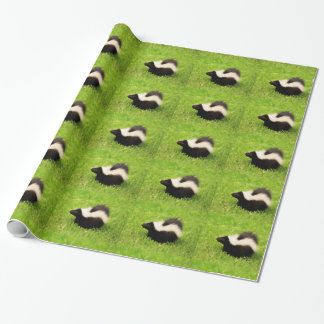 Multi Striped Skunk Wrapping Paper