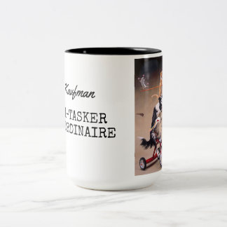 Multi-tasker Extraordinaire Two-Tone Coffee Mug