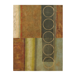 Multi-textured Abstract Painting by Vision Studio Wood Print