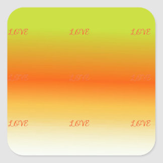 Multi Tones Square Sticker