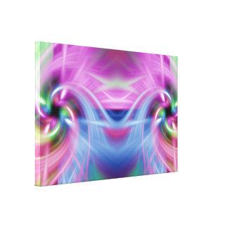 Multi Twist Stretched Canvas Print