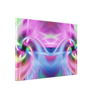 Multi Twist Stretched Canvas Print