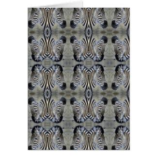 multi zebra head card