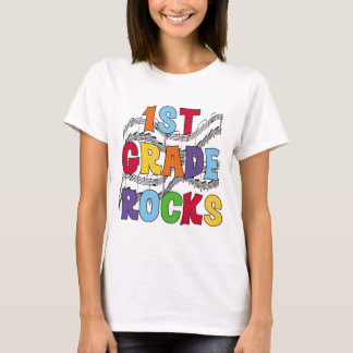 Multicolor 1st Grade Rocks Tshirts and Gifts