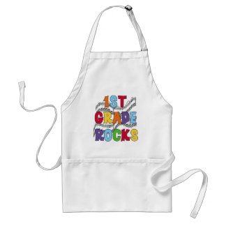 Multicolor 1st Grade Rocks Tshirts and Gifts Standard Apron
