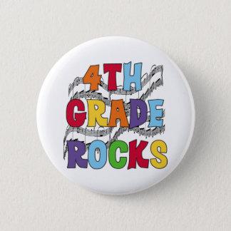 Multicolor 4th Grade Rocks 6 Cm Round Badge