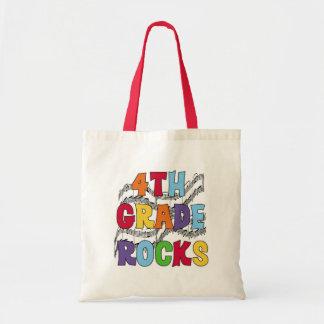 Multicolor 4th Grade Rocks Canvas Bags
