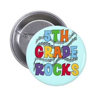Multicolor 5th Grade Rocks T shirts and Gifts Pinback Buttons