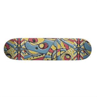 Multicolor Abstract 19.7 Cm Skateboard Deck