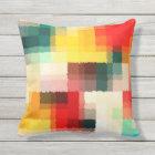 Multicolor Abstract Art Cushion