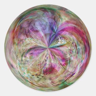 Multicolor Abstract Bubble Mandala Round Sticker