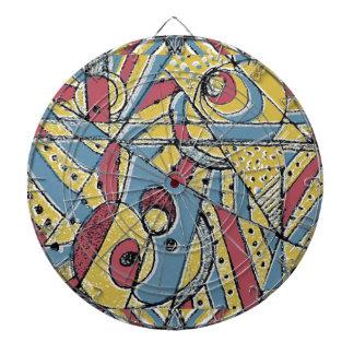 Multicolor Abstract Dartboard