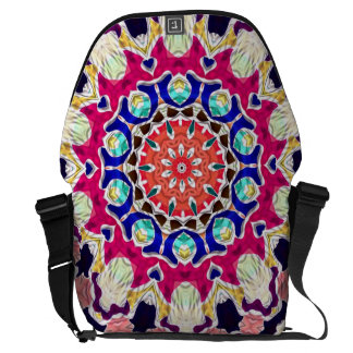 Multicolor Abstract Kaleidoscope Mandala Courier Bag