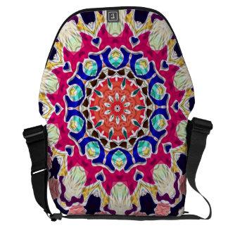 Multicolor Abstract Kaleidoscope Mandala Courier Bag