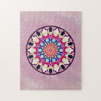 Multicolor Abstract Kaleidoscope Mandala Jigsaw Puzzle