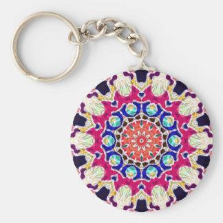 Multicolor Abstract Kaleidoscope Mandala Keychains