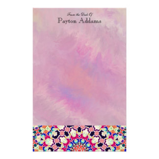 Multicolor Abstract Kaleidoscope Mandala Stationery