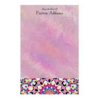 Multicolor Abstract Kaleidoscope Mandala Stationery Paper