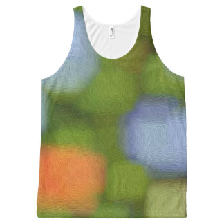Multicolor Abstract Painting All-Over Print Singlet