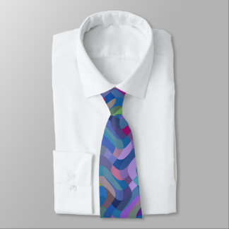 Multicolor Abstract Pattern Tie
